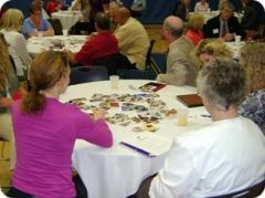 La Crosse Area Family YMCA Pioneering Healthier Communities (PHC) Well Workplace Award Breakfast Big Picture Deck Activity